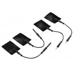 Electrodes silicone 5 x 5 cm avec connectique MALE 4 mm ( la paire )Auluga Services – Matériel Médical