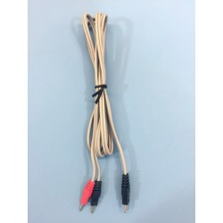 Câble 2 poles Compex 2 BlancAuluga Services – Matériel Médical