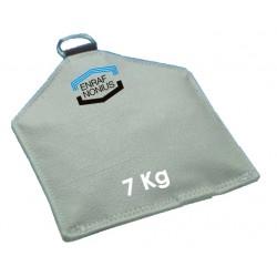 Sac de sable pour posture 7 Kg 30 x 45 cm Disponible seulement en gris .Auluga Services – Matériel Médical