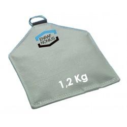 Sac de sable pour posture 1,2 Kg 15 x 25 cm Disponible seulement en gris .Auluga Services – Matériel Médical